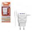 CARREGADOR LELONG PARA IPHONE C/ 3 PORTAS USB LE-524P
